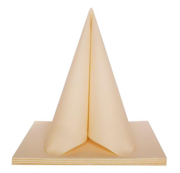 Serviette non tissée Dunilin crème 40 x 40 cm Pqt 50