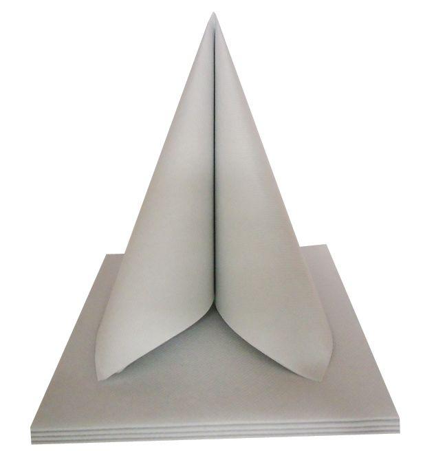 Serviette non tissée VSU gris perle 40 x 40 cm Pqt 50